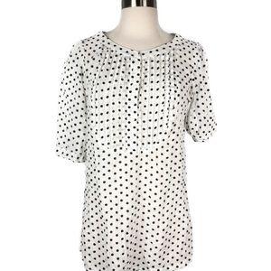Marc Jacobs Polka Dot Short Sleeve Tunic Blouse